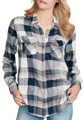 Jessica Simpson Plaid Button-Down Shirt