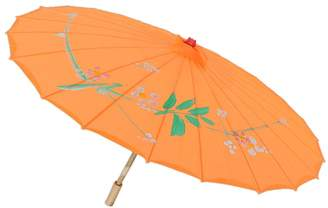 MonkeyJack Vintage Handmade Bamboo Cloth Floral Umbrella Wedding Dance Props