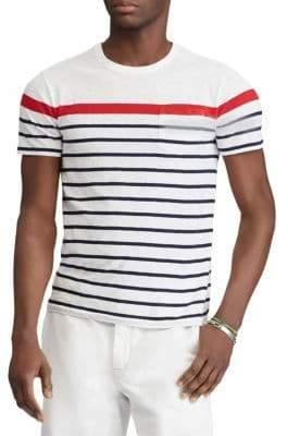 Polo Ralph Lauren White Striped Slub Jersey Tee