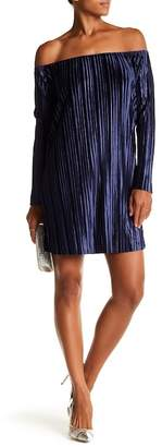 Romeo & Juliet Couture Off-the-Shoulder Pleated Dress