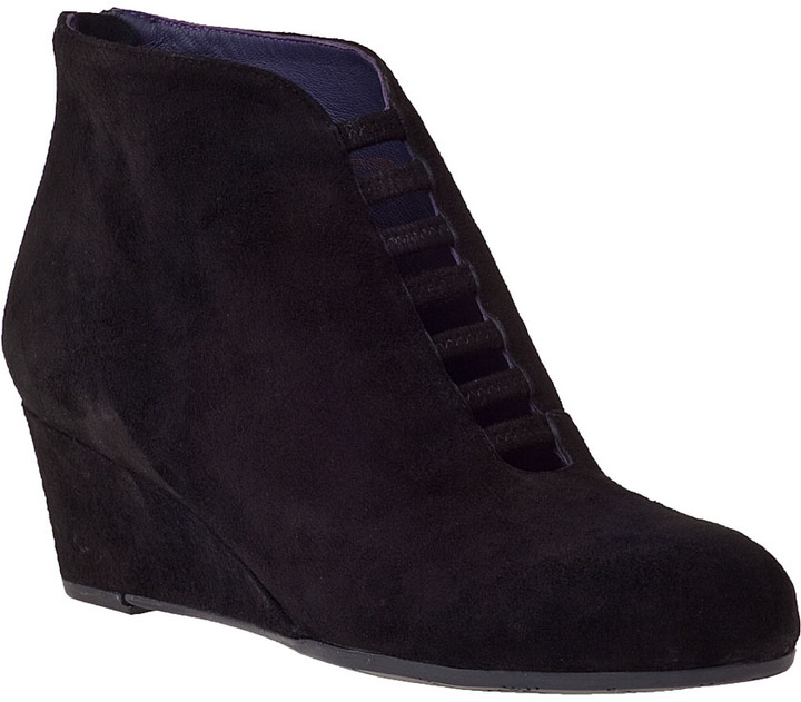 VANELi FOR JILDOR Leonita Wedge Boot Black Suede