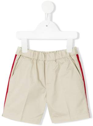 Moncler stripe piped shorts