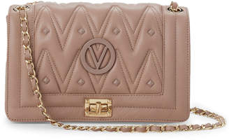 Mario Valentino Valentino By Mauve Alice Studded Leather Shoulder Bag