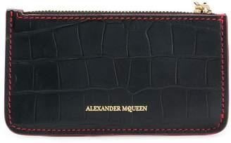 Alexander McQueen skull zip cardholder