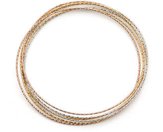 FINE JEWELRY Made in Italy 14K Tri-Color Gold Bangle Bracelet