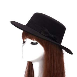 ca537726747d1 Church s DOSOMI Vintage Autumn Winter Men Women Fedoras Hat Girls Felt Flat  Top Jazz Hat Hats