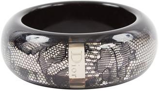Christian Dior Black Plastic Bracelets