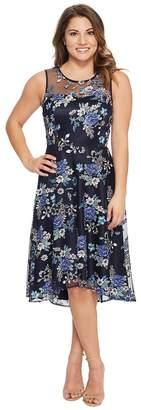 Tahari ASL Petite Applique Party Dress Women's Dress