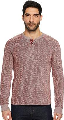Lucky Brand Men's Long Sleeve French Rib Button Notch Shirt