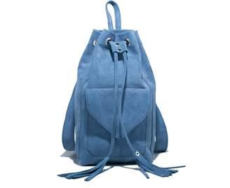 Zwina Habibi - Baby Blue Suede Backpack