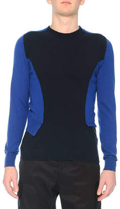 Alexander McQueen Bicolor Spliced Sweater
