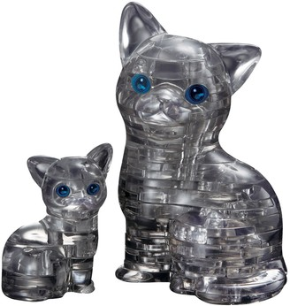 Bepuzzled BePuzzled 49-pc. Black Cat & Kitten 3D Crystal Puzzle