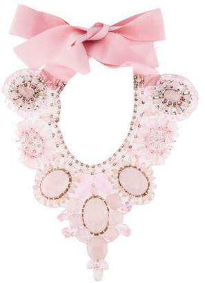 Ranjana Khan Rose Quartz Collar Necklace