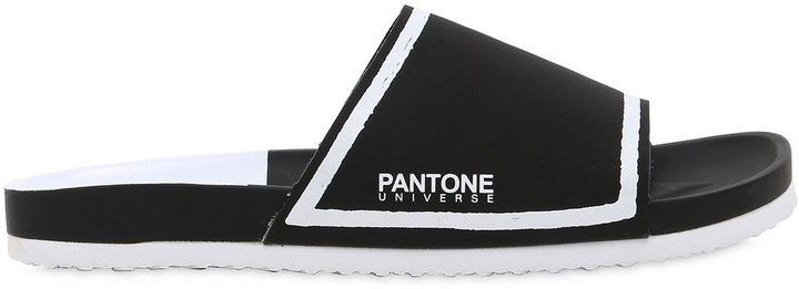 Pantone Universe Ibiza Leather Slide Sandals