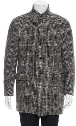 Fay Wool Houndstooth Coat w/ Tags