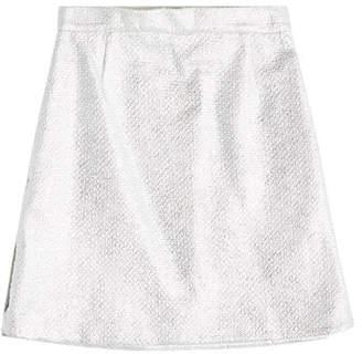 Carven Metallic Skirt with Cotton