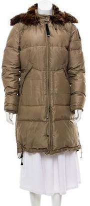 Parajumpers Faux Fur-Trimmed Down Coat