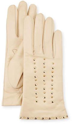 Portolano Studded Leather Gloves $155 thestylecure.com