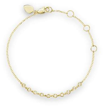 Meira T 14K Yellow Gold Diamond Bezel Bracelet