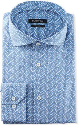 Bugatchi Men's Shaped-Fit Mini-Floral Dress Shirt
