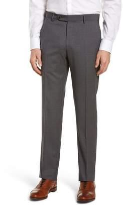 Zanella Parker Flat Front Pindot Wool Trousers