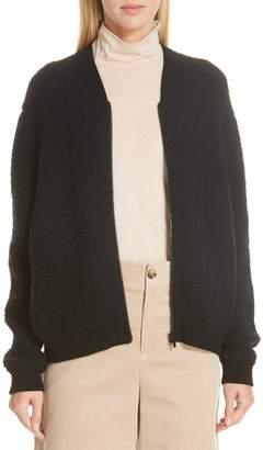 Vince Boucle Knit Bomber Jacket