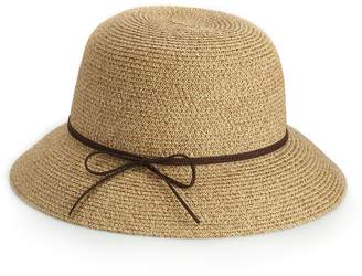 Cloche Sonoma Goods For Life Women's SONOMA Goods for Life Faux Suede Tie Hat