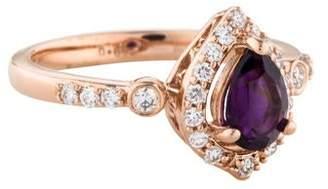 Alberto 14K Amethyst & Diamond Cocktail Ring