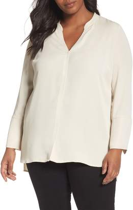 Nic+Zoe Endless Empire Matte Satin Blouse