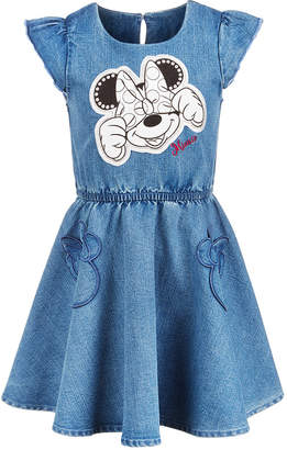 Disney Little Girls Minnie Mouse Denim Dress