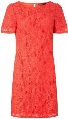 Dorothy Perkins Womens Orange Lace Shift Dress