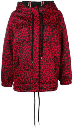 No.21 leopard print hooded jacket