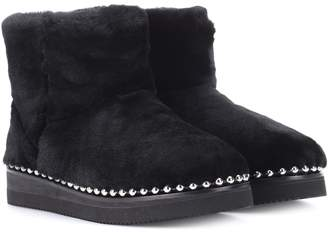 Alexander Wang Fur ankle boots