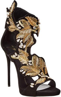 Giuseppe Zanotti Embellished Suede Sandal