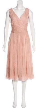 Luisa Beccaria Sleeveless Silk Dress