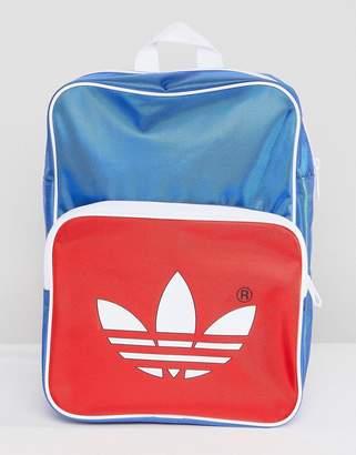 adidas adicolor Retro Backpack In Blue CW2619