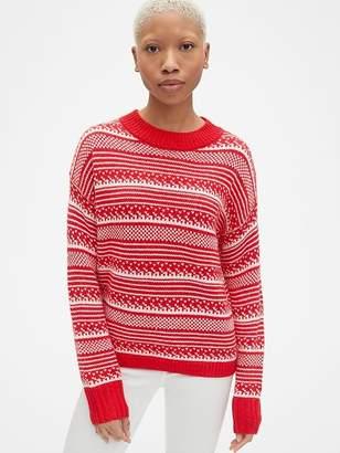 Gap Fair Isle Crewneck Pullover Sweater