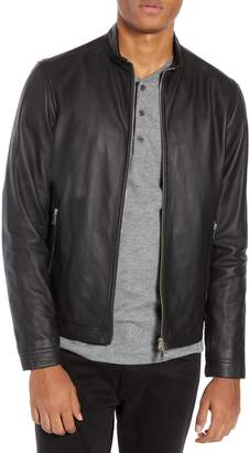 Theory Morvek L.Burgos Trim Fit Leather Jacket