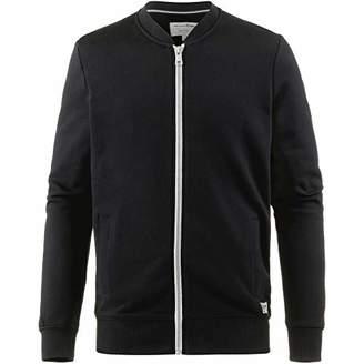 Tom Tailor Denim (NOS) Men's Coole Basic Sweatjacke Von Sweatshirt, (Black 29999), X-Large