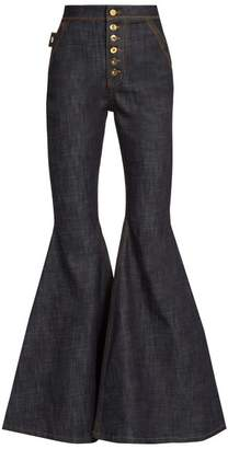 Ellery - Ophelia High Rise Flared Jeans - Womens - Navy