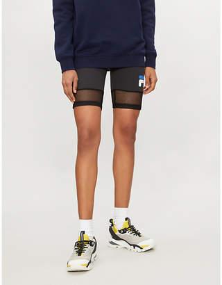 Fila Donatella high-rise jersey shorts