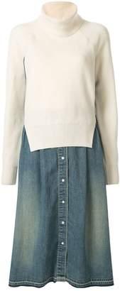 Sacai knitted jumper dress