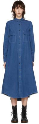 Y's Ys Indigo Denim Long Jacket