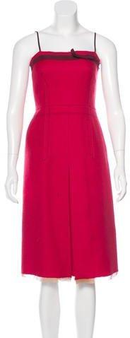 pradaPrada Strapless Wool Dress