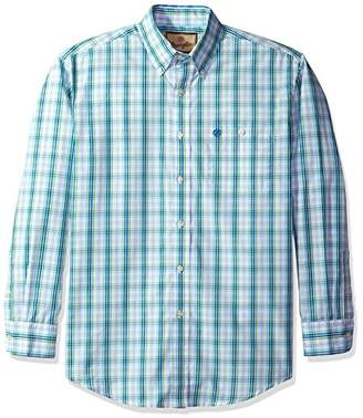 Wrangler Men's Western Classic One Pocket Long Sleeve Button Shirt