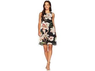 Karen Kane Sheer Floral Dress