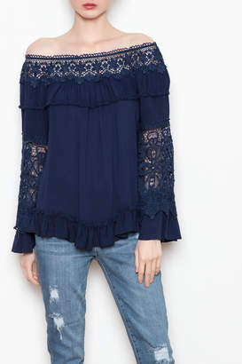 Allison Collection Lace OTS Top