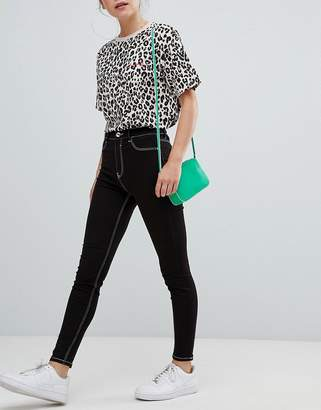 Bershka contrast stitch skinny jean