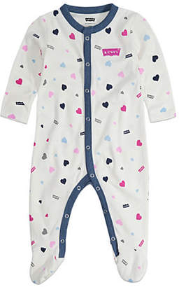 Levi's Baby Girl's Printed Cotton Jersey Footie