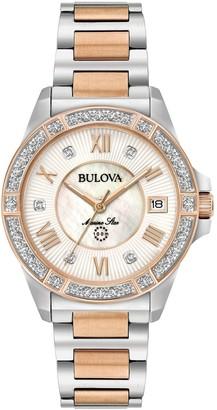 Bulova Women's Diamond Two-Tone Marine Star Watch
